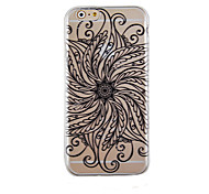 Under the Black Pattern Transparent Phone Case Back Cover Case for iPhone6 Plus/6S Plus