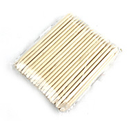 Nail Art Orange Wood Cuticle Pusher Remover Stick Wood 100 PCS