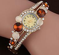nouvelles marques quartz montre de luxe des femmes bracelet en plaqué or de la mode cristal relogio montre Feminino
