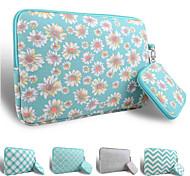 LOELMALL ® Carry Laptop Sleeve Canvas Fabric 13-13.3 Inch (Green Chrysanthemum)