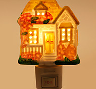 Creative Design Cottage-shaped Ceramic Lamp Night Light Bedside Lamp Fragrance Festival Gift