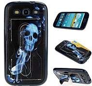 Simple Skull Multifunction Card Soft Leather TPU Material Phone Case for Samsung Galaxy J1 /J1ACE /G360 /G530