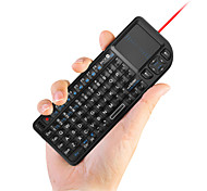 Ultra Mini 2.4GHz Wireless Wireless Keyboard with Touchpad and Flashlight for PC/Tablet/Smart Phone