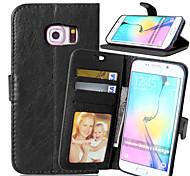PU cuir carte portefeuille titulaire reposer le couvercle rabattable avec étui de cadre photo en bord Samsung Galaxy S3 / S4 / S5 / S6 /