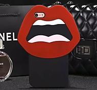 venta caliente boca grande y los ojos suave cubierta de la caja protectora de silicona para el iphone 5 / 5s (colores surtidos)