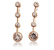 Top Quality Fashion 18K Gold Plated Wave Stud Earrings Party for Women Girl Female Lady