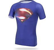 Others Men's Cycling Tops Short Sleeve Bike Spring / Summer / Autumn Breathable / Sweat-wicking / Compression Blue
