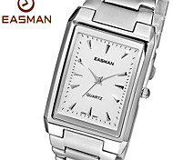 EASMAN Brand 2015 New Fashion Original Men Watch Business Solid Steel Rectangle Silver White Watch Men Wristwatches