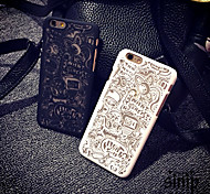 Playful Pattern Openwork Relief Printing Thin PC Material Phone Case for iPhone 6/iPhone 6S(Assorted Colors)