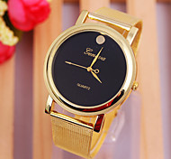 Woman's Watches The Golden Belt Watch Simple Dial Watch