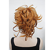 New Fashion Orange Brown Bendable Wires Short Hairpiece Tiny Braids Claw Clip Ponytail 0288A130A