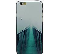 verde camino del puente de alta calidad y buen estuche rígido patrón de precios para el iphone 6 / 6s