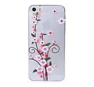 Latest  Five Flower Pattern Swarovski Diamond High Quality Laser Relief Touch Phone Case for iPhone 5 / 5S