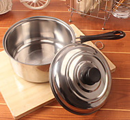 Stainless Steel Single Home Practical With Handle Milk Pan Soup Pot Thickening Single Bottom Pot