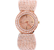 Femme Bracelet Montre Quartz Chronographe Alliage Bande Or Rose Marque-