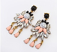 Lady Fashion Personality Temperament Multicolored Gemstone Earrings Bridal Accessories