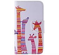 Color Giraffe Painted PU Phone Case for Galaxy Grand Prime/Core Prime/J5/J1/J1 Ace/J2