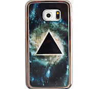 Triangle Star Pattern Plating TPU Phone Case for iPhone Galaxy S6 edge Plus/S6 edge/S6
