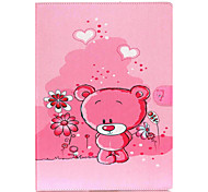 Pink Bear Pattern Flip the Card Holder Protection Case for iPad Pro