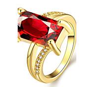 Ringe Hochzeit / Party / Alltag Schmuck Zirkon / Platiert / vergoldet / Rose Gold überzogen Damen Statementringe 1 Stück,7 / 8Goldfarben
