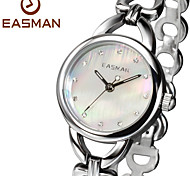 EASMAN Brands Ladies Watches Heart Shape Steel Bracelet Band White Mother of Pearl Fashion Wrist Watch Womens Watches Cool Watches Unique Watches