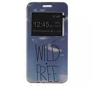 o novo padrão de cartão de aleta carta pu material de couro caso de telefone janela para Samsung Galaxy J1 / j1ace / j2 / J5