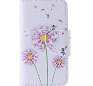 Pink Dandelion Painted PU Phone Case for iphone4/4S