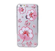 Latest Poppies Pattern Swarovski Diamond High Quality Laser Relief Touch Phone Case for iPhone 6plus / 6S plus