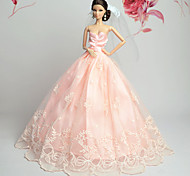 Barbie Doll Pink Party & Evening Organza / Lace Dresses Dresses