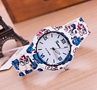 Woman And Men Printed Wrist  Watch