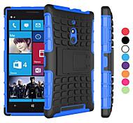 Caso 2 in 1 a due colori staccabile tpu + pc ibrido con kickstand per Nokia Lumia 830 (colori assortiti)
