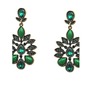 Antique crystal earring&High quality&real gold plated