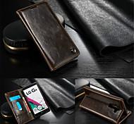 Für LG Hülle Kreditkartenfächer / Geldbeutel / mit Halterung / Flipbare Hülle Hülle Handyhülle für das ganze Handy HülleEinheitliche