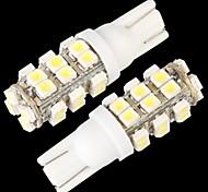 10 * W5W T10 168 bulbo de la lámpara de cuña 194 lado blanco 28 SMD llevó 12v luz