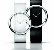 alta - marca grau quadro de tabela transparente relógio cinto de moda casal de quartzo