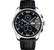 SKMEI Men's Wrist watch Quartz Japanese Quartz Calendar Chronograph Water Resistant / Water Proof Leather Band Black