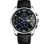 SKMEI® Men's Fashion Sport Date Chronograph Leather Quartz Waterproof Watch Wrist Watch Cool Watch Unique Watch