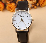 New Watch Simple Dial Scale Influx Of Casual Leather Belt Quartz Watches For Men And Women Watch
