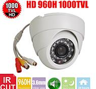 CCTV 3.6mm 1000TV 24IR Leds D/N 1/3 Cmos IR-CUT Dome Indoor Security Audio camera
