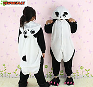 New Cosplay®Panda Flannel Kids Kigurumi Pajamas with Zip Design for toilet(without Shoes)
