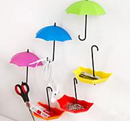 Umbrella Design Wall Sticker Hook(3 PCS/Set)