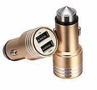 RenEPai® 2-in-1 12V/24V DC Car Cigar Cigarette Lighter Double Power Adapter Socket Splitter