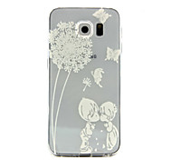 Child dandelion Pattern TPU Relief Back Cover Case for Galaxy S5/Galaxy S6/Galaxy S6 edge+