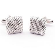 Men's Novelty Business Stainless Steel Cufflinks Square Vintage Wedding Gift