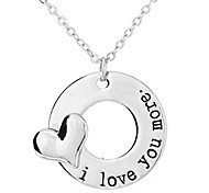 European Style Fashion Simple Love I Love You More Necklace