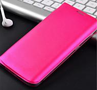 Para Funda Samsung Galaxy Soporte de Coche / Flip Funda Cuerpo Entero Funda Un Color Cuero Sintético Samsung S6 edge