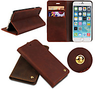 iCoverCase®Retro Genuine Cowhide Leather Luxury Flip Cover Wallet Card Slot Case Stand for iPhone 6(Assorted Colors)