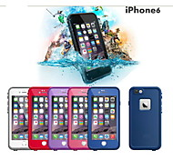 "Special Desigh Waterproof Plastic Life proof Protective Case Cover For Apple Iphone 6 4.7"" (Assorted Color)"