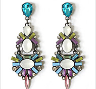 New Arrival Fashional Retro Exaggerated Gem Earrings