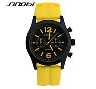 Men's Wrist watch Quartz Water Resistant / Water Proof Sport Watch Silicone Band Yellow Brand SINOBI